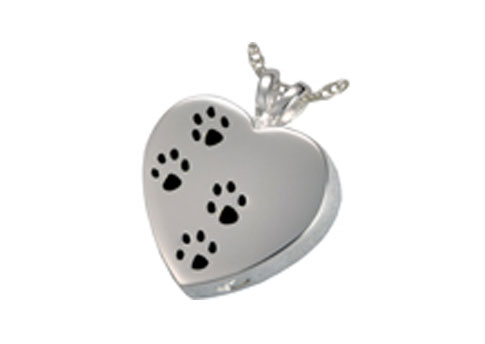 Paw Prints on My Heart - Sterling Silver Image