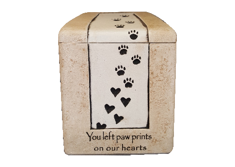 Heart Prints Urn Image